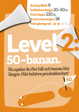 Bild med texten Level 2 i vit text på orange bakgrun